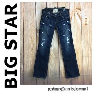🌸Big Star size 27 SOPHIE Distressed denim jean